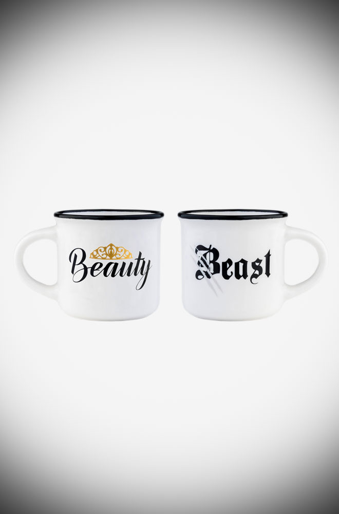 Espresso for Two - these Beauty & Beast coffee cups are the perfect on-trend gift. They also make an unmissable addition to your coffee cup collection.
