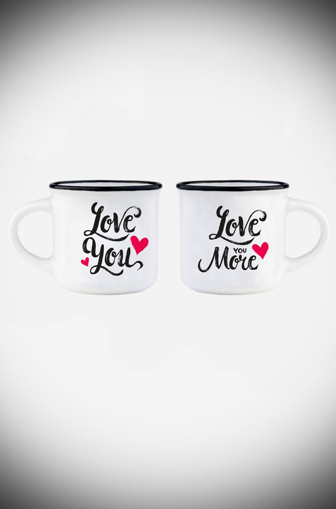 Espresso for Two - these Love coffee cups are the perfect on-trend gift. They also make an unmissable addition to your coffee cup collection.