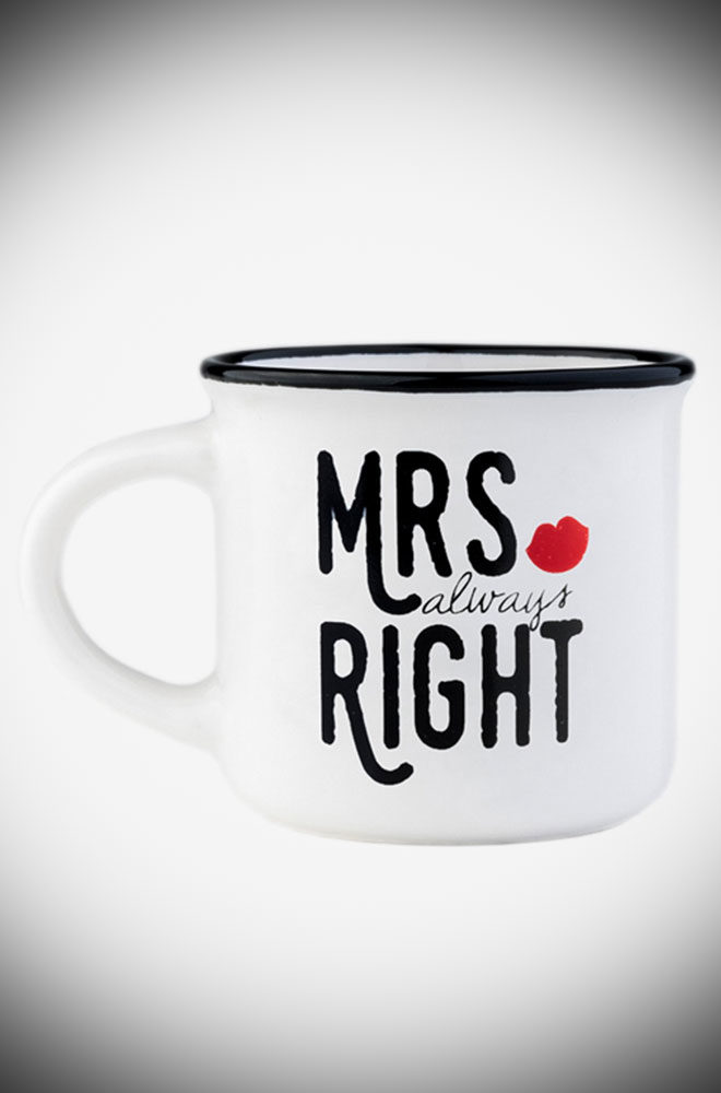 Espresso for Two - these Mr & Mrs coffee cups are the perfect on-trend gift. They also make an unmissable addition to your coffee cup collection.