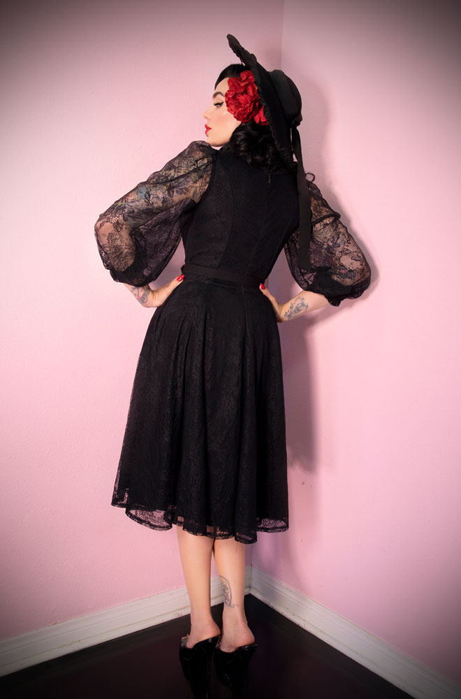 e7f61337c4 The The Black Decadence Swing Dress is a stunning vintage inspired dress.  Deadly is the