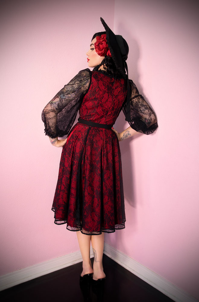 The Red Decadence Swing Dress is a stunning vintage inspired dress. Deadly is the Female are official UK stockists of Vixen by Micheline Pitt.