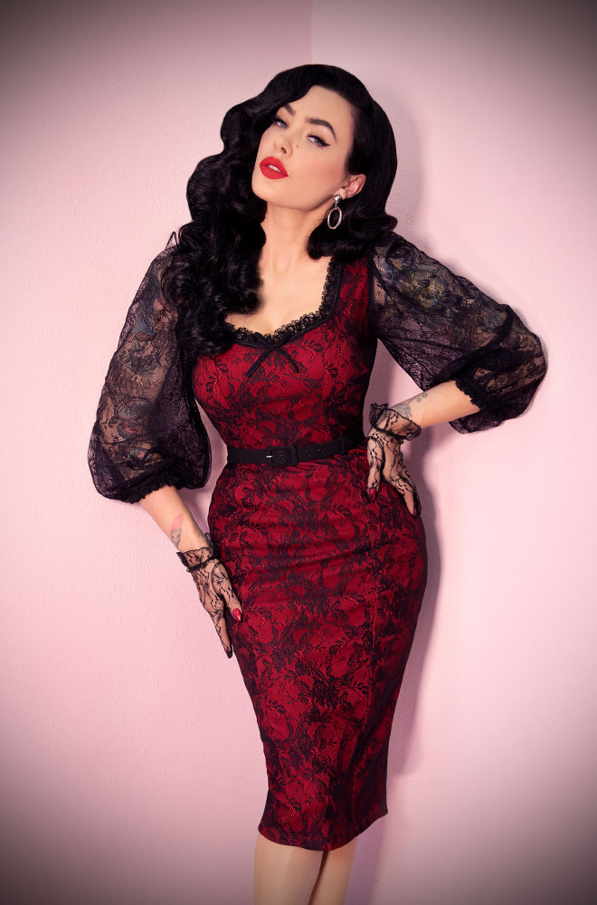 f8448f8cb4 The Red Decadence Wiggle Dress is a stunning vintage inspired dress. Deadly  is the Female