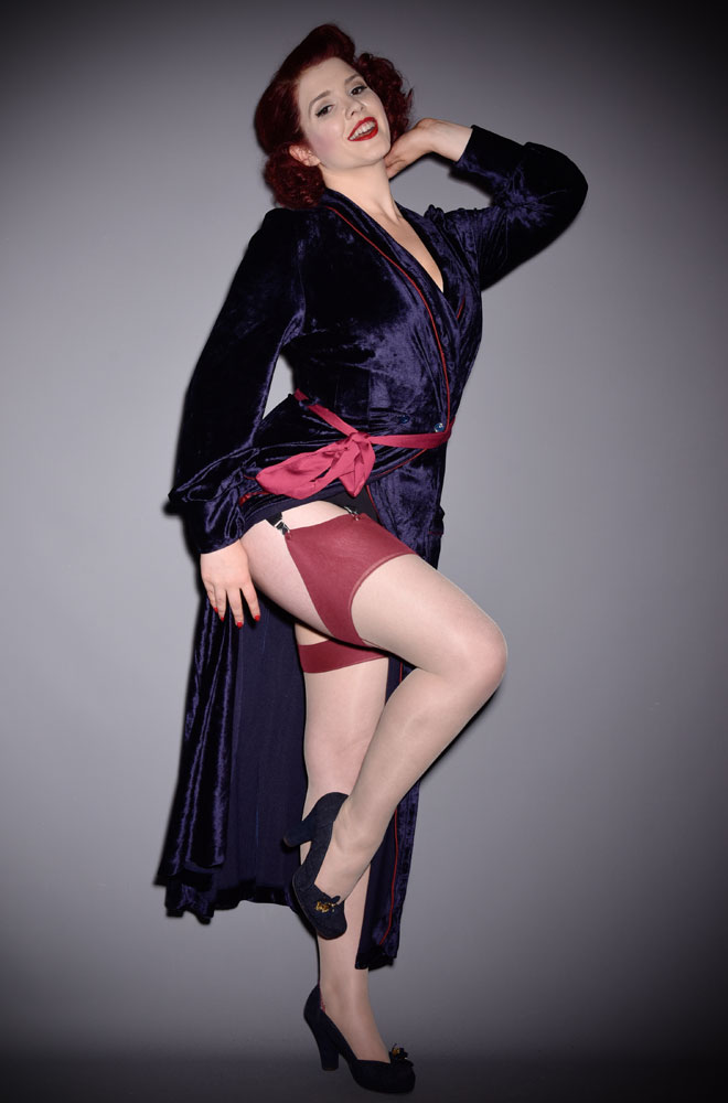 d372f094e7e The Claret Glamour Seamed Stockings are elegant champagne nylons with a  claret red seam. They