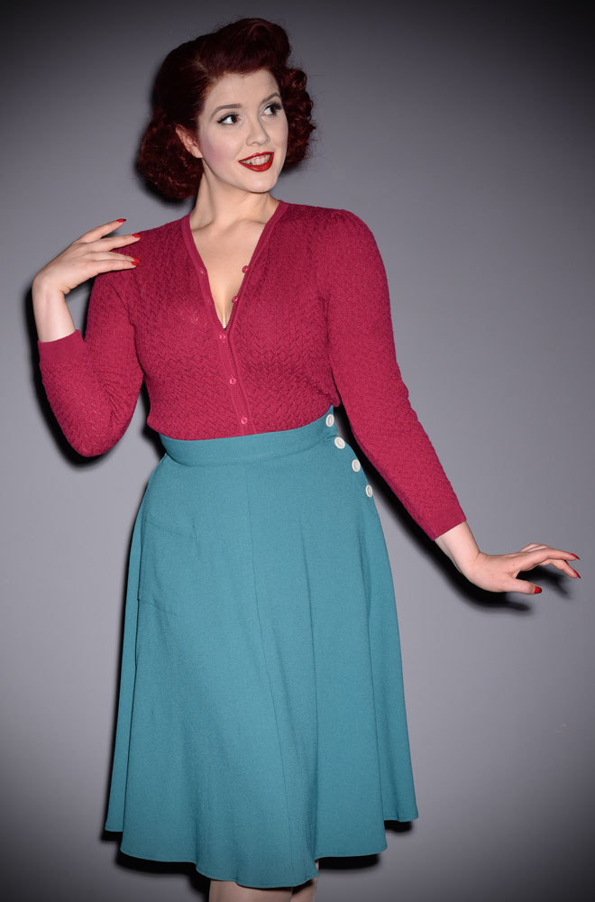 The stunning RaspberryDelightful Daytime Cardigan is a beautiful wardrobe essential. Deadly is the Female are UK Stockists of Emmy Design.