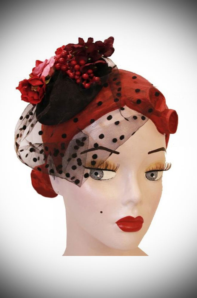 The Sophia Black Rose Fascinator is adorned with a delicate ensemble of roses & small berries on a black base. Effortless Vintage style in an instant!