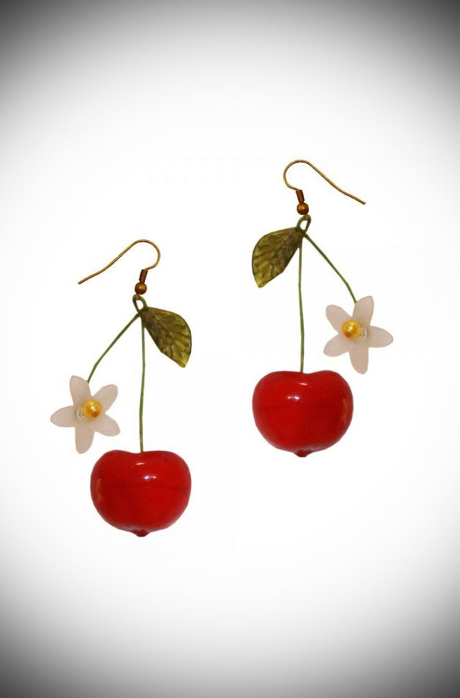Are you feeling fruity? Flirty and fun, the Cherry Earrings are sure to make you smile. Available now at DeadlyistheFemale.com