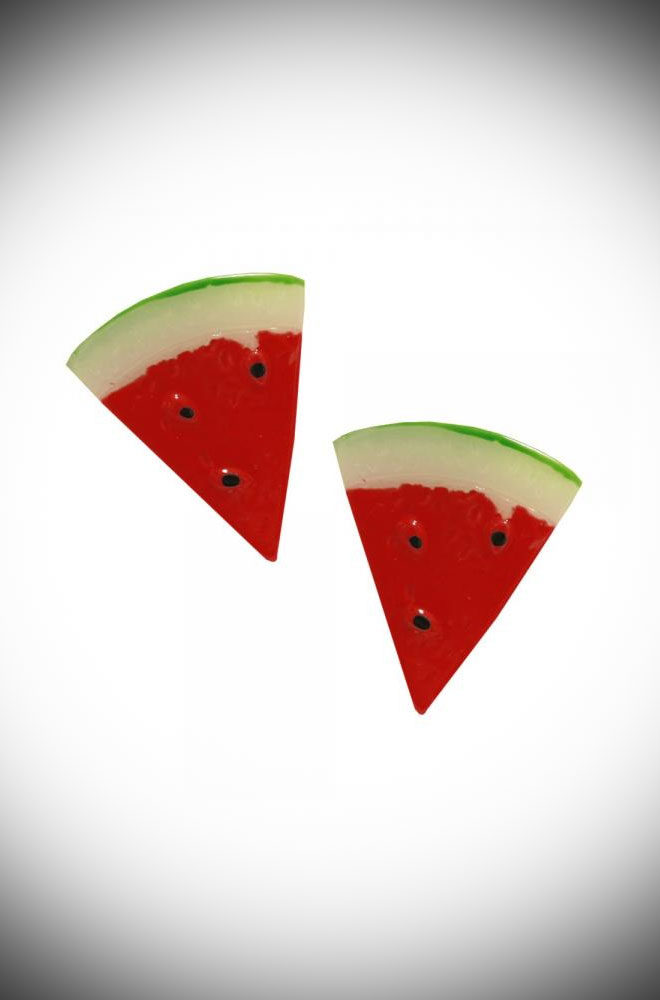 Are you feeling fruity? Flirty and fun, the Watermelon Studs are sure to make you smile. Available now at DeadlyistheFemale.com