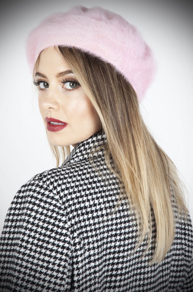 Save a bad hair day & get instant vintage style? What's not to like about thePink Beret! This chic hat is comfortable & hides a multitude of hair woes!