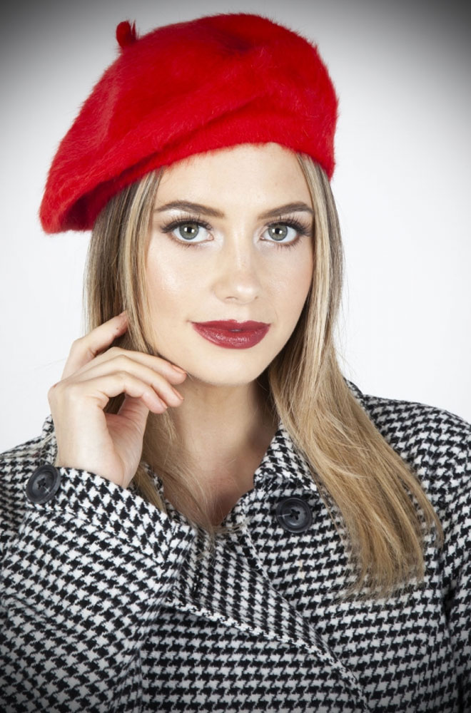 Save a bad hair day & get instant vintage style? What's not to like about the Red Beret! This chic hat is comfortable & hides a multitude of hair woes!