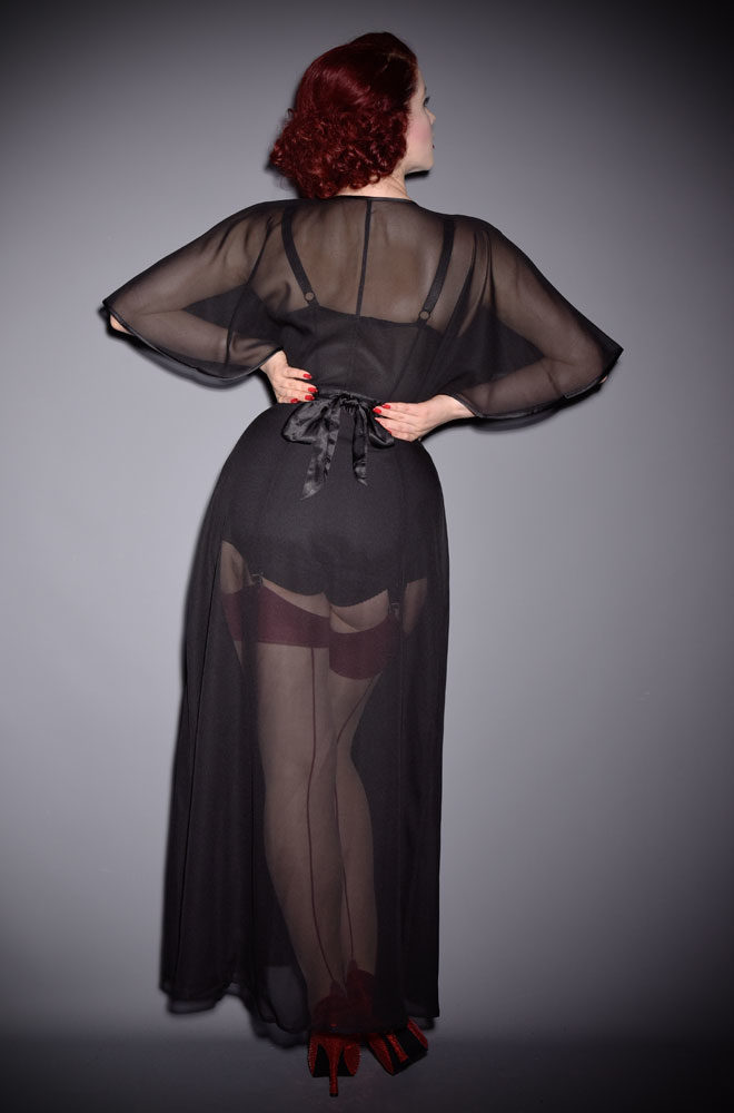 The 1930s Sheer Lounging Robe will make you feel like a million dollars. At Deadly is the Female - specialists in vintage style & pinup fashion.