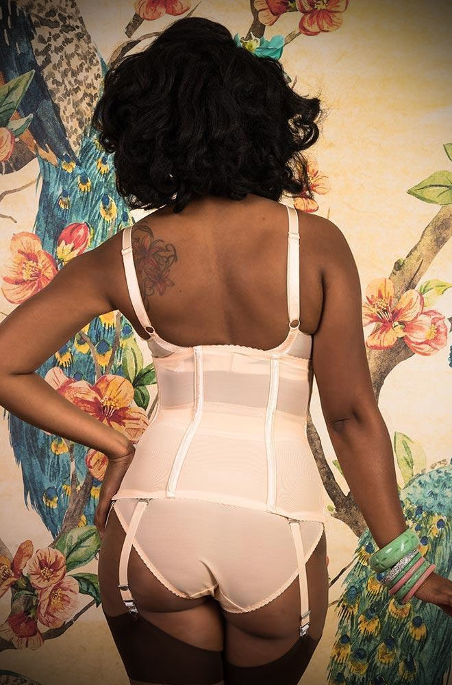The Glamour Waist Cincher looks like a seductive piece of lingerie but it packs a serious punch, noticeably cinching your waist!