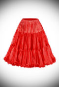 This vintage style Red 50's Chiffon Petticoat, also sometimes called a crinoline, is soft and comfortable under your favourite swing dress or circle skirt.