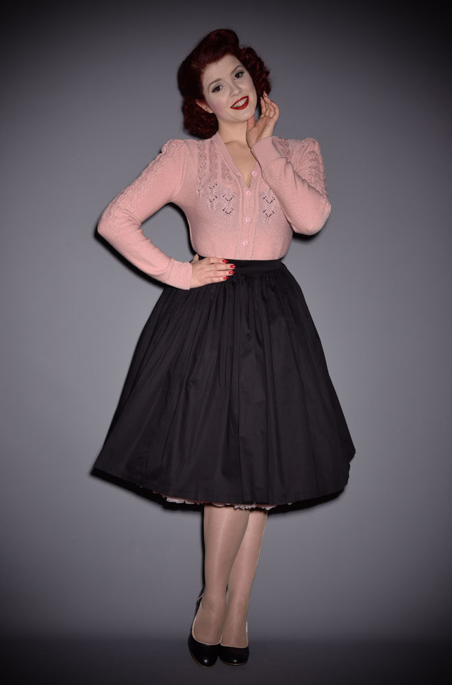 Raven Black Vixen Swing Skirt at Deadly is the Female, official UK stockists of Vixen by Micheline Pitt. This full skirt is both dramatic & classic at the same time.