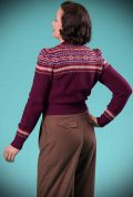 This Plum 40's Fair Isle Cardigan is a beautiful wardrobe essential. DeadlyistheFemale.com are official UK stockists of Emmy Design Sweden.