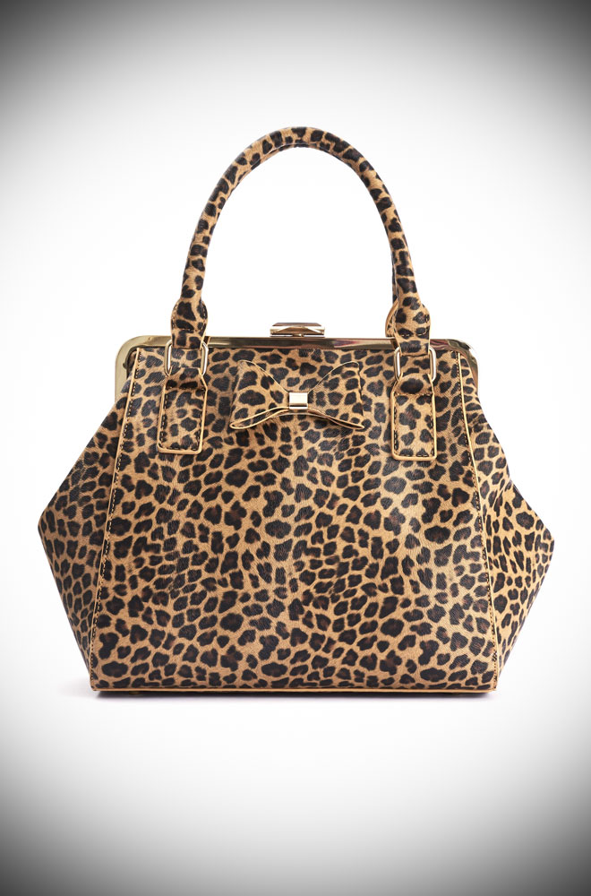 The Leopard Molly Handbag is classic and cool! The printed and textured vegan leather is sassy and goes with just about everything.