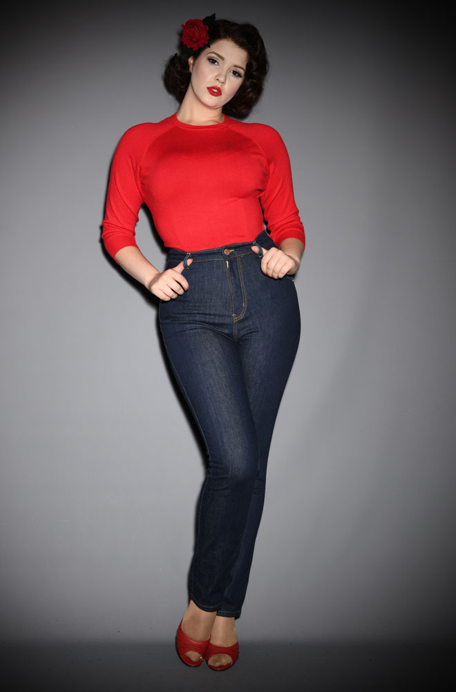 Lady K Loves Blue Classic Jeans - stretch denim with a high waist and slim leg. We are one of the only places in the UK where you can try these jeans on.