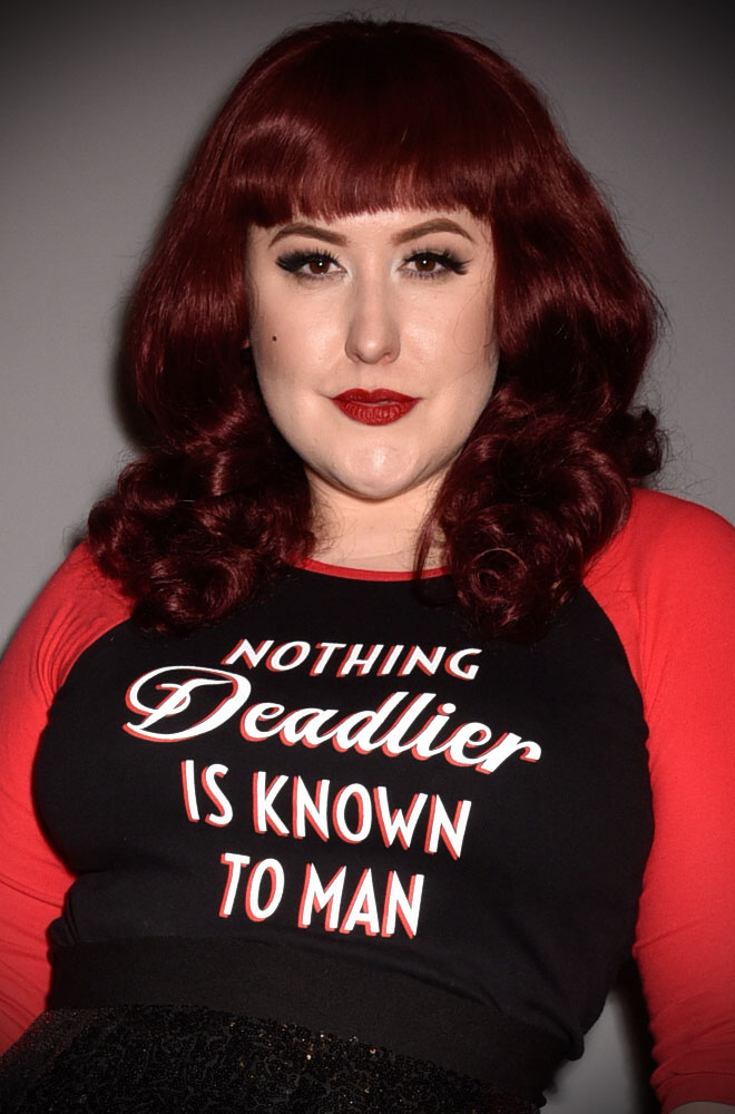 "The phrase ""Nothing Deadlier is Known to Man"" sums up Deadly & our fabulous customers perfectly! This T Shirt is a high quality, sassy black & red top."