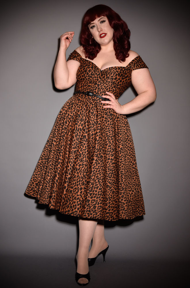 Leopard Print Scarlett Dress - a timeless yet sassy swing dress. A signature piece for the Alexandra King for Deadly is the Female Collection.