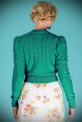 Emerald Green Peggy Sue Cardigan by Emmy Design is a beautiful wardrobe essential. Deadly is the Female are UK Stockists of Emmy Design.