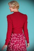Red Peggy Sue Cardigan by Emmy Design is a beautiful wardrobe essential. Deadly is the Female are UK Stockists of Emmy Design.