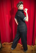 The 1940s Grease Monkey Jumpsuit is fabulously saucy while incredibly wearable! These sassy denim overalls by Freddies of Pinewood are available now.