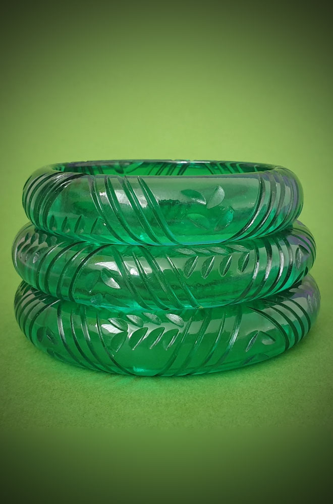 Green Krystal Prystal Bangle