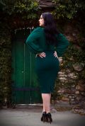 Dark Green Vamp Pencil Skirt, for femme fatales who can't live without a little drama! Deadly is the Female - UK & European La Femme En Noir stockists