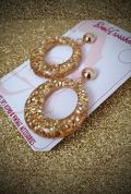 Gold Glitter Amelia Earrings