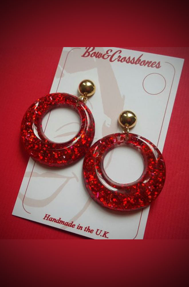 Red Confetti Amelia Earrings