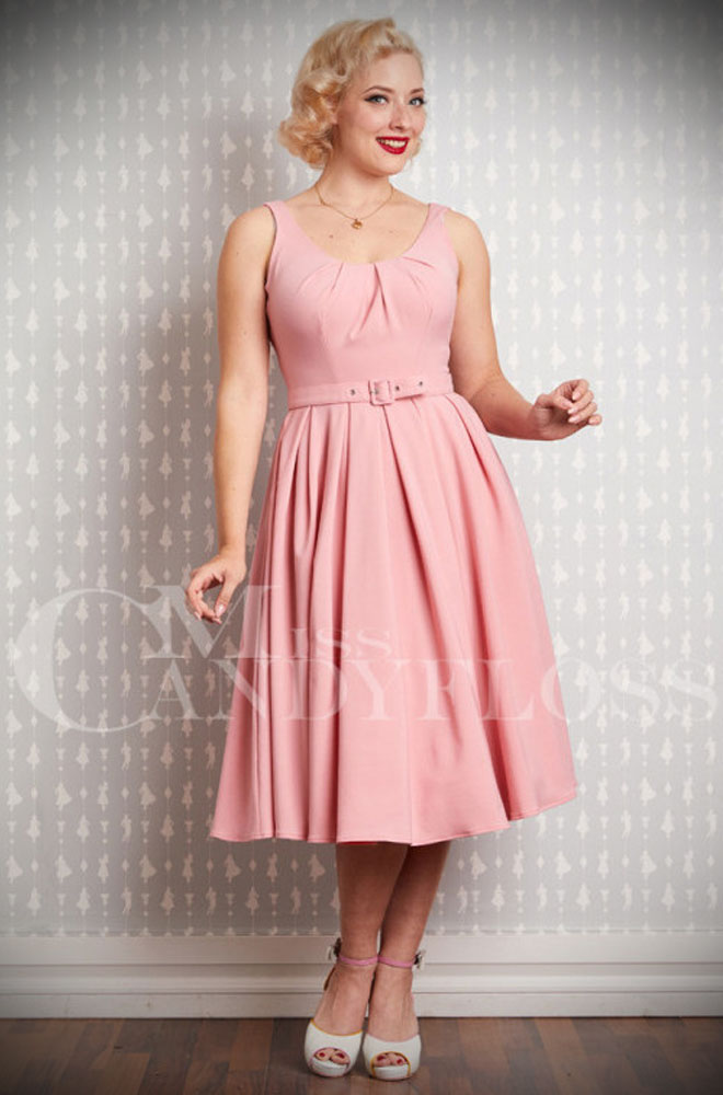 The Fiona Swing Dress is a chic 50's style dress in a beautiful blush pink. Deadly is the Female are UK stockists of Miss Candyfloss.The Fiona Swing Dress is a chic 50's style dress in a beautiful blush pink. Deadly is the Female are UK stockists of Miss Candyfloss.The Fiona Swing Dress is a chic 50's style dress in a beautiful blush pink. Deadly is the Female are UK stockists of Miss Candyfloss.