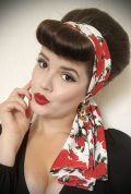White Rose Hair Scarf - a large chiffon scarf in leopard print. We LOVE a good hair scarf! They go with just about everything for effortless vintage style.