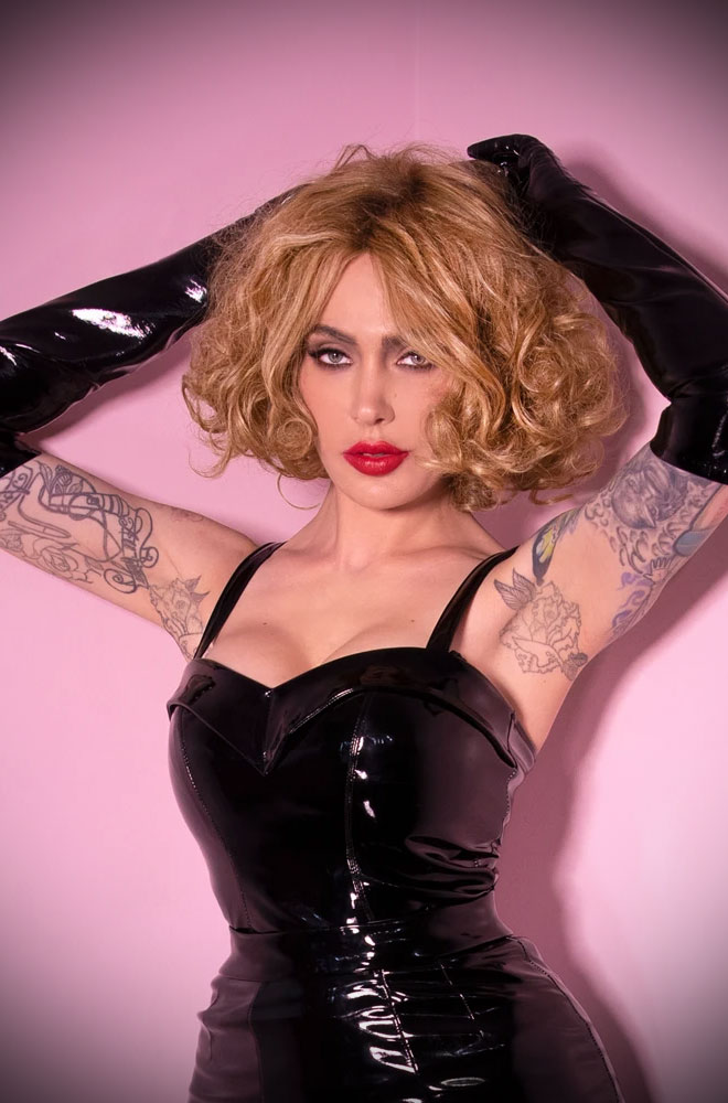 Miss Kitty Vinyl Maneater Top at Deadly is the Female, official UK stockists of Vixen by Micheline Pitt. Good things for bad girls.