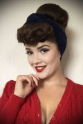 Navy Jersey Hair Scarf - a large jersey scarf. We LOVE a good hair scarf! They go with just about everything for effortless vintage style.