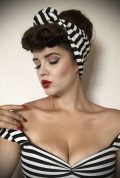 Striped Turban Headband. A gorgeous accessory to give any outfit a classic vintage edge, by Alexandra King for Deadly is the Female.