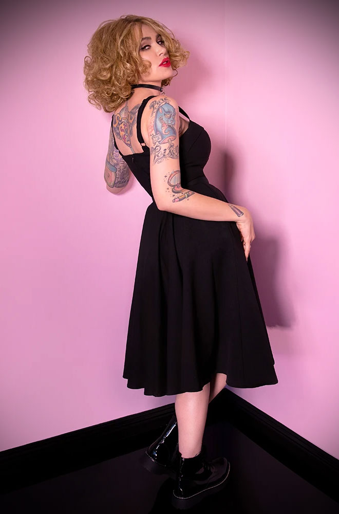 The Black Maneater Swing Dress is a real bombshell! Deadly is the Female are European stockists of Vixen by Micheline Pitt.