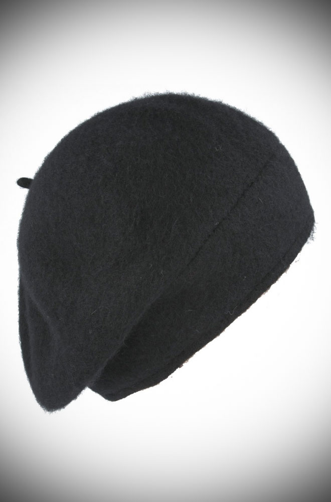 The Black Fleur Beret is the perfect go-to for a bad hair day but also a stylish, vintage inspired finishing touch to any outfit.