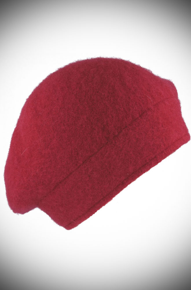 The Wine Fleur Beret is the perfect go-to for a bad hair day but also a stylish finishing touch to any outfit.