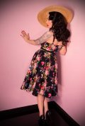 The 50's inspired Floral Ingenue Swing Dress. Deadly is the Female are European stockists of Vixen by Micheline Pitt.