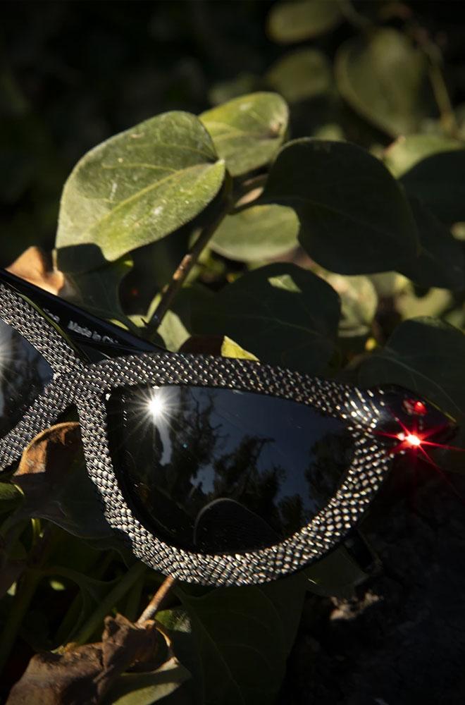 The Black Serpent Sunglasses by La Femme En Noir. Deadly is the Female are UK & European stockists of the cult label La Femme En Noir