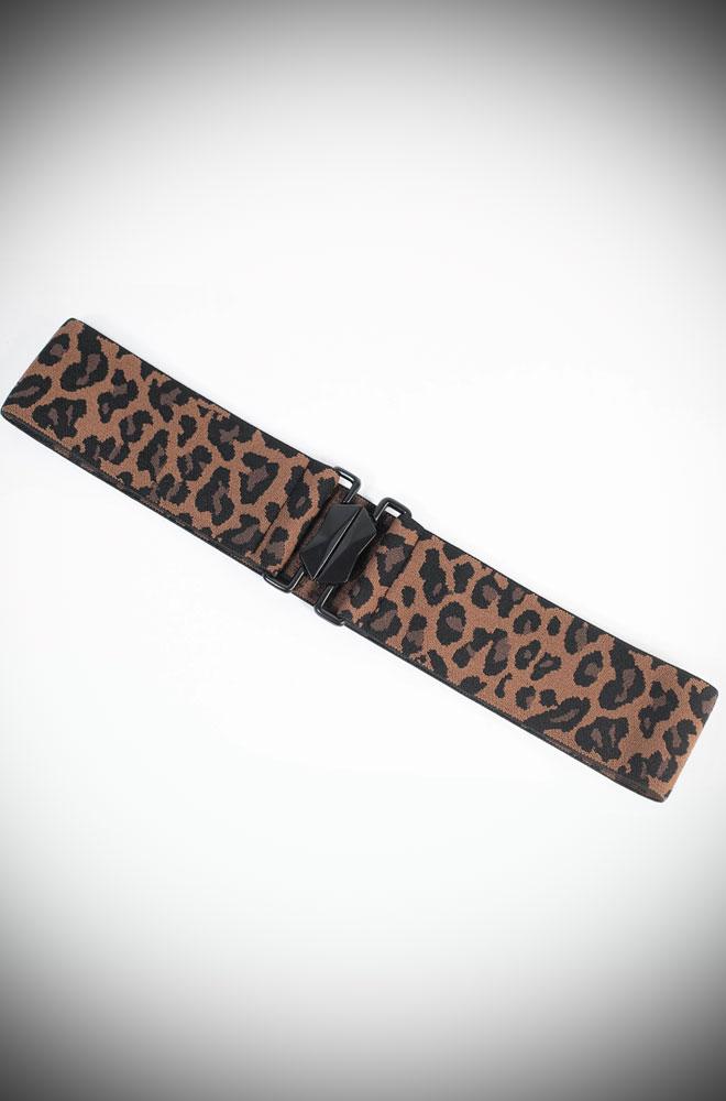 Leopard Cinch Belt by Unique Vintage UK stockists
