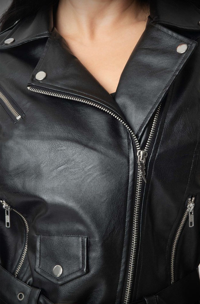 Greaser Jacket - faux leather & inspired by Sandy's outfit in the final scenes of Grease. Deadly are official stockists of Unique Vintage.