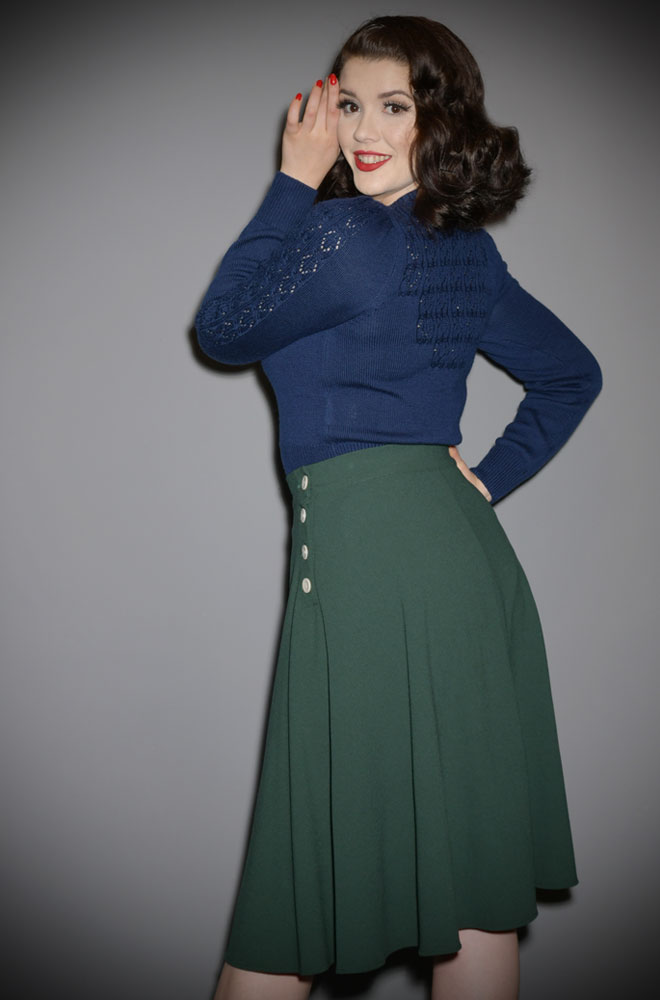 Midnight Peggy Sue Cardigan by Emmy Design is a beautiful vintage wardrobe essential. Deadly is the Female are UK Stockists of Emmy Design.