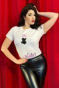This sassy Miss Daisy T-shirt features an illustration of our gorgeous friend and model Miss Daisy in black and pink. Exclusive to Deadly.