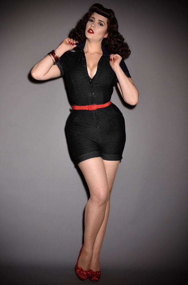 The Patsy Romper is effortlessly cool! This playsuit will ensure you feel sassy is a flash! Deadly are UK stockists of Unique Vintage.