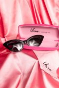 Vintage style Black Fashion Doll Cat-Eye Sunglasses by Vixen at Micheline Pitt at Deadly. Effortlessly add some pinup glamour to your day!