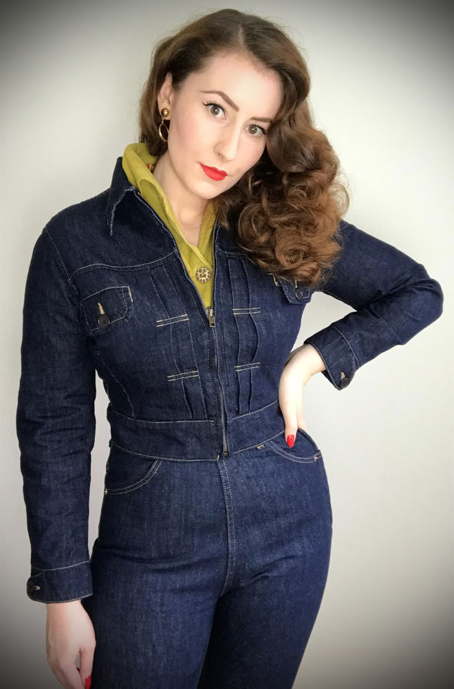 Norma Jean Jacket. This neat denim jacket blends vintage style with sass. Cropped to the waist, this chic jacket goes with everything.