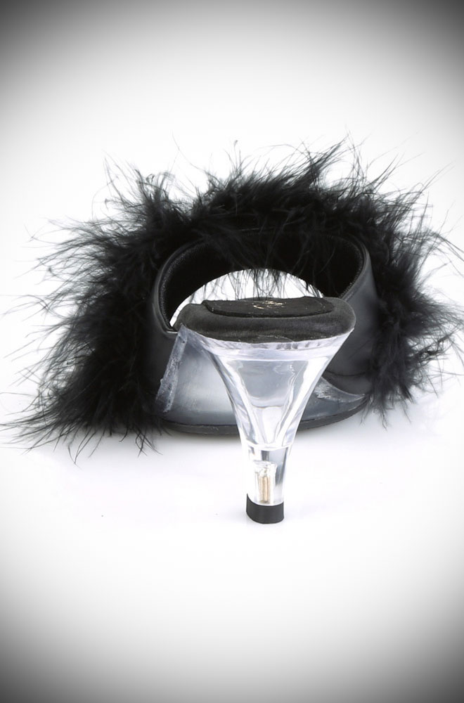 Marabou Belle Shoes are old Hollywood Glamour slipper-style mules. Perfect for wealthy widows and vintage starlets alike!